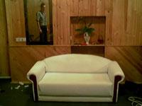 После обивки мебели